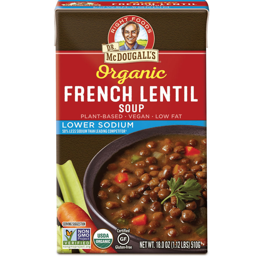 Organic French Lentil Gluten Free Lower Sodium Soup