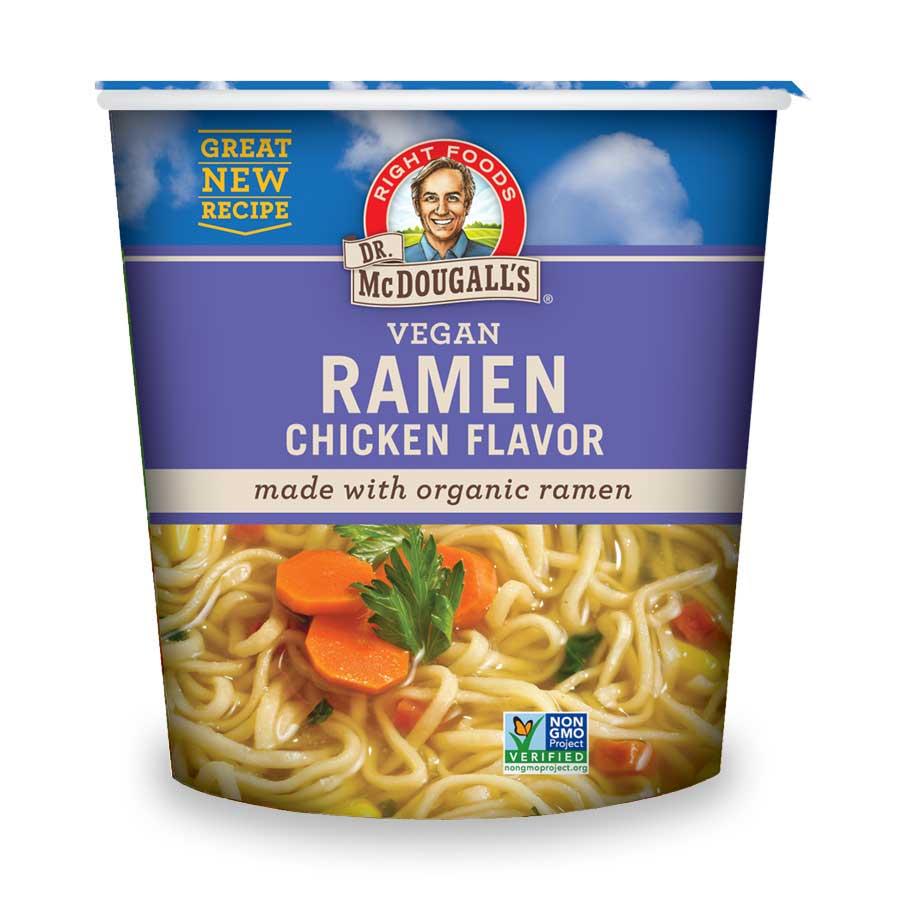 Vegan Chicken Soup with Organic Ramen Noodles Big Cup